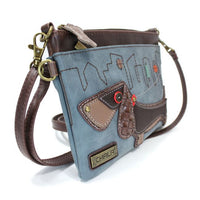 CHALA Mini Crossbody Wiener Blue - Enchanted Memories, Custom Engraving & Unique Gifts