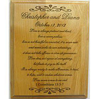 Personalized Wedding Plaque - Enchanted Memories, Custom Engraving & Unique Gifts
