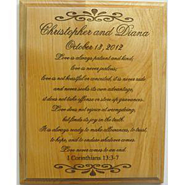 Personalized Wedding Plaque
