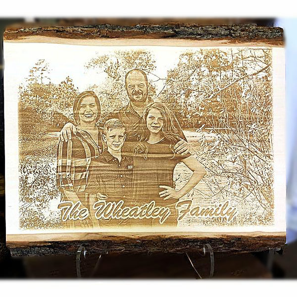 Solid Wood Photo Plaque - Enchanted Memories, Custom Engraving & Unique Gifts