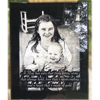 Baby Picture Etched Personalized Photo Plaque for Newborn | Enchanted Memories, Custom Engraving & Unique Gifts