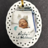 Personalized Baby's 1st First Christmas Photo Ornament