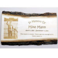Basswood Photo Remembrance Plaque