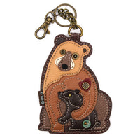 CHALA Two Bears Key Fob, Coin Purse, Purse Charm - Enchanted Memories, Custom Engraving & Unique Gifts