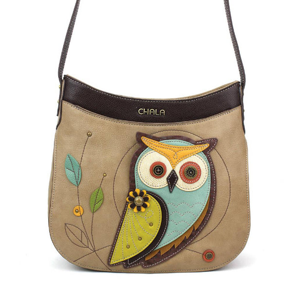 CHALA Owl Crescent Crossbody - Enchanted Memories, Custom Engraving & Unique Gifts