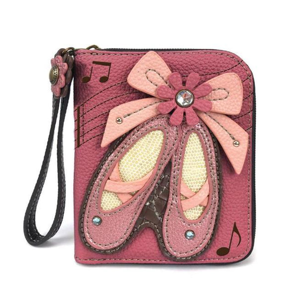CHALA Ballet Slipper Wristlet Billfold Wallet for Dancers | Enchanted Memories, Custom Engraving & Unique Gifts