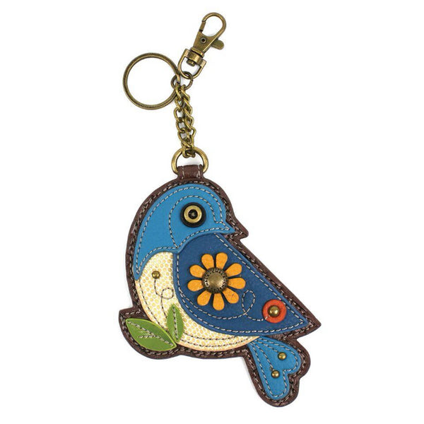 CHALA Blue Bird Keychain Keyfob Coin Purse | Enchanted Memories
