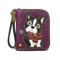 CHALA Boston Terrier Wristlet Wallet Billfold for Dog Lovers | Enchanted Memories