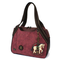 CHALA Bowling Bag Burgundy Horse Animal Themed Purse