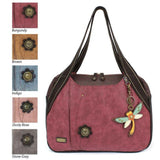 CHALA Bowling Bag Dragonfly Burgundy Purse Animal Themed Purse