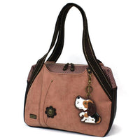 CHALA Bowling Bag Dusty Rose Beagle Dog Handbag Purse