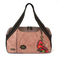 CHALA Bowling Bag Dusty Rose Cardinal Handbag Purse
