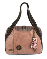 CHALA Bowling Bag Dusty Rose Handbag Animal Themed Purse