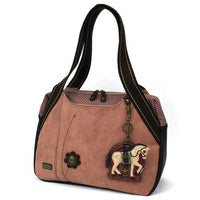 CHALA Bowling Bag Dusty Rose Horse Handbag Purse