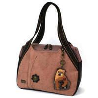CHALA Bowling Bag Dusty Rose Momma Bear with Cub Handbag Purse