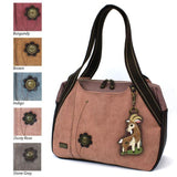 CHALA Bowling Bag Dusty Rose Mountain Goat Handbag Animal Themed Purse
