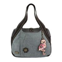CHALA Bowling Bag Flamingo Indigo Blue Animal Themed Handbag Purse