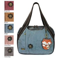 CHALA Bowling Bag Fox Indigo Blue Handbag Animal Themed Purse