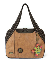 CHALA Bowling Bag Frog Handbag Brown Animal Themed Purse