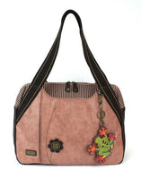 CHALA Bowling Bag Frog Handbag Dusty Rose Animal Themed Purse