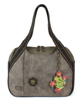 CHALA Bowing Bag Frog Handbag Stone Gray Animal Themed Purse