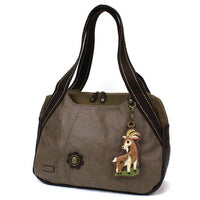 CHALA Bowling Bag Goat Handbag Animal Themed Press Mountain Goat