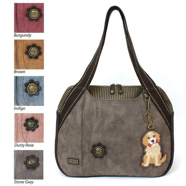 CHALA Bowling Bag Golden Retriever Handbag Dog Themed Purse