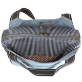 CHALA Bowling Bag Handbag Purse Inside Top Indigo Bag