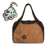 CHALA Bowling Bag Octopus Handbag Brown Purse | Enchanted Memories