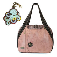CHALA Bowling Bag Octopus Handbag Dusty Rose Purse | Enchanted Memories
