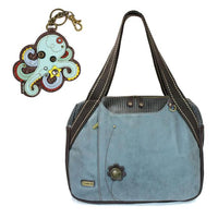 CHALA Bowling Bag Octopus Handbag Indigo Blue