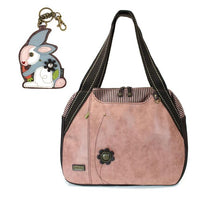 CHALA Bowling Bag Rabbit Handbag Dusty Rose Animal Lovers Purse