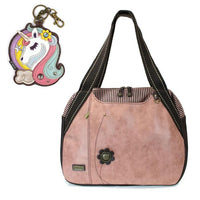 CHALA Bowling Bag Unicorn Handbag Animal Theme Purse Dusty Rose