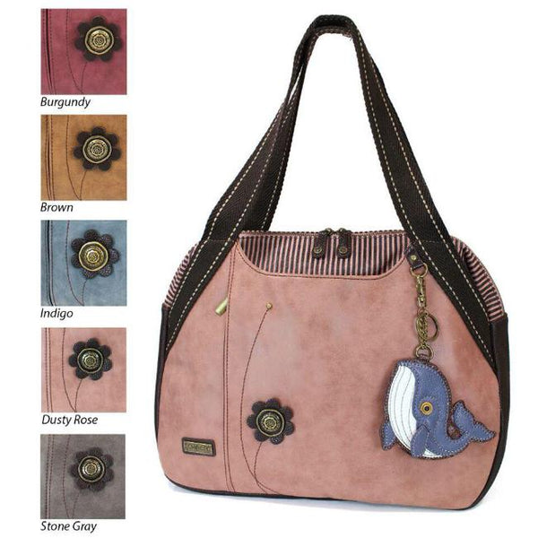 CHALA Bowling Bag Whale Handbag Sea Life Purse Animal Theme Shoulder Bag