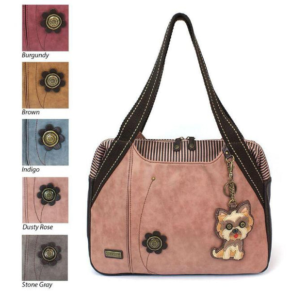 CHALA Bowling Bag Yorkie Handbag Yorkshire Terrier Purse Animal Theme Purse Dog