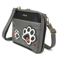 CHALA Champion Organizer Crossbody Purse with Paw Print Side View | Enchanted Memories
