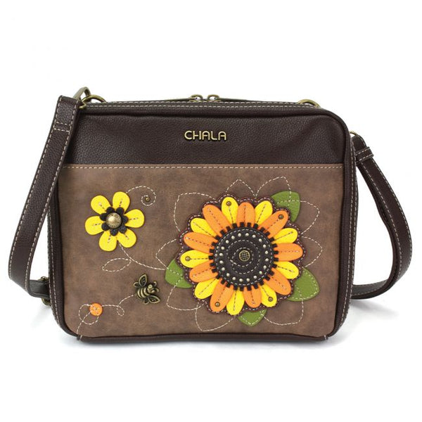 CHALA Champion Organizer Handbag with Sunflower | Enchanted Memories