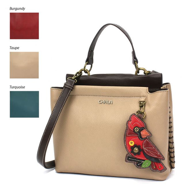 CHALA Charming Satchel Cardinal handbag purse is perfect for all bird lovers and is the perfect gift for those in search for the perfect shoulder bag