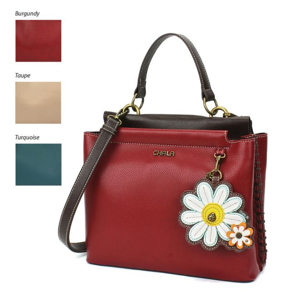 Chala Charming Satchel Purse with Daisy is the most adorable handbag you'll ever own!