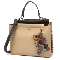 CHALA Charming Satchel Dachshund Lovers Handbag perfect purse for Dachshund lovers