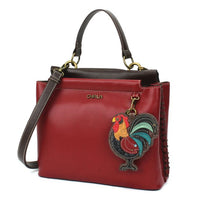 CHALA Charming Satchel Handbag Purse is the perfect gift for rooster and farm lovers.