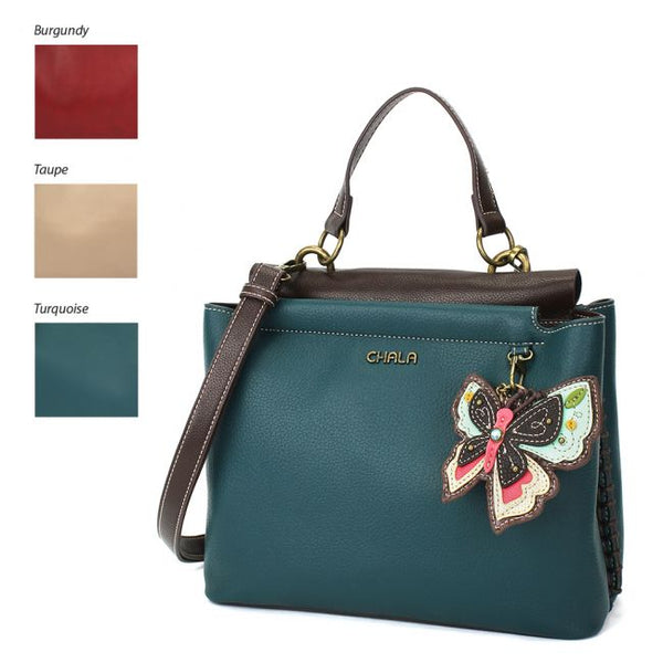 Chala Charming Satchel Handbag with an adorable butterfly is the most adorable purse you'll ever carry.
