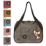 CHALA Chihuahua Stone Gray Bowling Bag Handbag Dog Purse