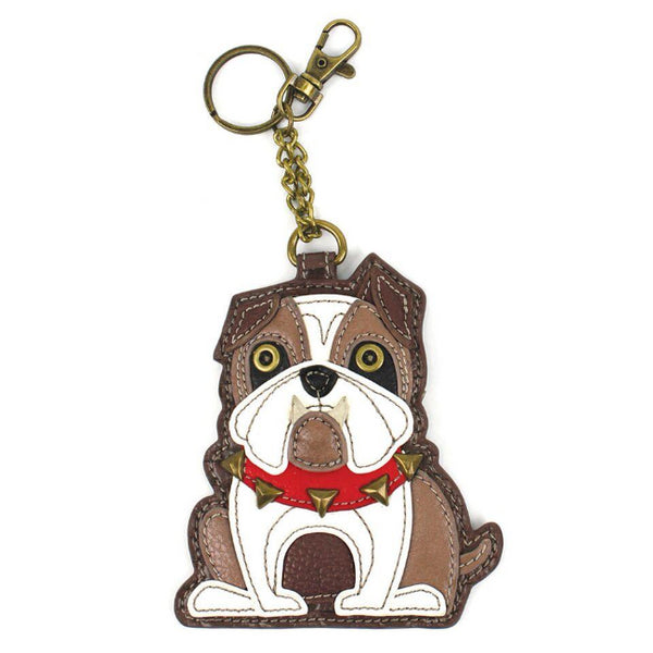 CHALA English Bulldog Keychain Keyfob Coin Purse | Enchanted Memories