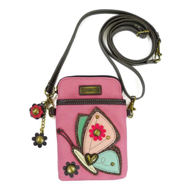 CHALA Pink Butterfly Cellphone Crossbody Shoulderbag | Enchanted Memories