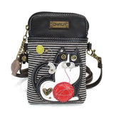 CHALA Tuxedo Cat Striped Cellphone Crossbody | Enchanted Memories