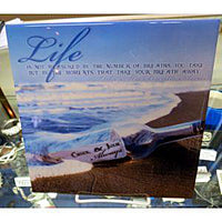 Message in a Bottle Couples Tile - Enchanted Memories, Custom Engraving & Unique Gifts