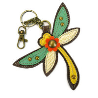 CHALA Dragonfly Key Fob, Purse Charm - Enchanted Memories, Custom Engraving & Unique Gifts