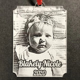 Personalized Baby Photo Christmas Ornament