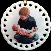 Custom Baby's First Christmas Ornament with Photo Newborn Child Gift for Mom Baby Photo Gift for Grandparent